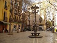 Plaza en el barrio del Born