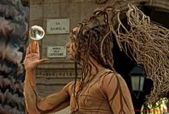 Phantasievolle Statue Las Ramblas