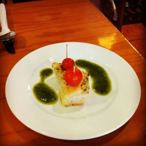 Juicy Jones homemade focaccia and pesto by Charley Allen